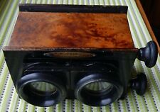 c1900-1910 UNIS  FRANCE WALNUT STEREO VIEWER