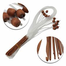 12 Holz Nadel Häkeln Stricknadeln Afghanische Tunesische Bambus Häkelnadel Gifts