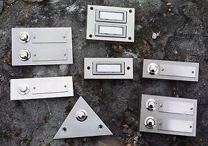 Klingeltaster Klingelknopf Klingelplatte Metall unbeleucht./beleuchtet LED Ausw.