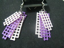 Plastic Canvas Purple & Pink Earrings ~ Handcrafted ~ Gift Idea