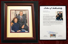 JIMMY & ROSALYNN CARTER SIGNED, PSA/DNA Autographed & Framed 8x10 Portrait Photo