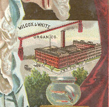 DANBURY, MERIDEN, NEW HAVEN & BRIDGEPORT TRADE CARD, WILCOX, WHITE ORGAN CO C652