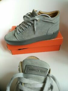 Android Homme los angeles Mens Leather Trainers UK 8 EUR 42 Mid Top Sneaker