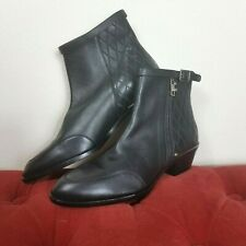Chloe Booties Black Leather Boots Mismatched R 39 L 36 New Amputee Zip Chelsea
