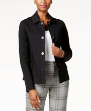 Charter Club size 14 Black Jacket Business Casual Snap Button Blazer