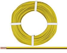 Kupfer-Zwillingslitze 50m  Doppellitze gelb/braun    [1m = 0,278€]  NEU