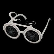 bicycle shaped glasses,fun party glasses,novelty glasses,bike glasses,white