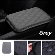 Universal PU Leather Car Armrest Pad Covers Center Console Pads Gray Dust-proof