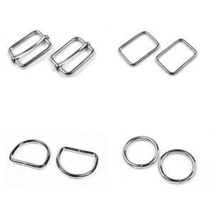 Metal O-Rings D-Rings Loops Slider Bars Buckles Webbing Strap Tape ❀ Wide Choice