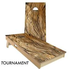 Slick Woody's Swirl Wood Cornhole Board Game Set - High Quality Made in USA!!