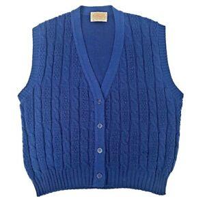 Vtg Pendleton 100% Virgin Wool Button Down Cardigan L Kids