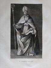 1830 Acquaforte San Andrea CorsiniFrancesco Rosaspina Guido Reni Bologncm. 47x30
