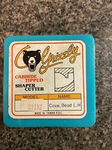 Grizzly Carbide Tipped Shaper Cutter G1112 Cove bead L.H.  NOS New Old Stock WOW