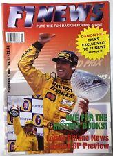F1 NEWS FORMULA ONE MAGAZINE 1998 No.15 September 5 Formel 1