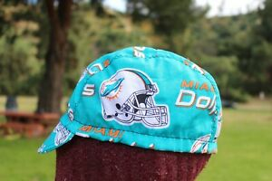 CYCLING CAP NFL MIAMI DOLPHINS  100% COTTON HANDMADE IN USA S/M/L