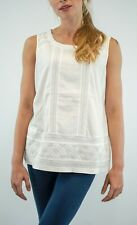 NEW Ex White Stuff Lydia White Lace Holi-Yay Jersey Vest RRP £32.50 Now £15