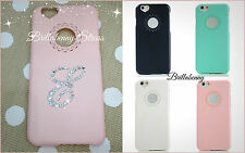 CASE COVER APPLE IPHONE 6 CUSTODIA + INIZIALE SWAROVSKI ORIGINALI PERSONALIZZATA