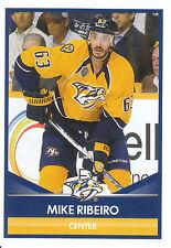 16/17 PANINI NHL STICKER #367 MIKE RIBEIRO PREDATORS *24983