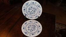 J & G Meakin Classic English Ironstone 2 Blue Nordic Dinner Plates