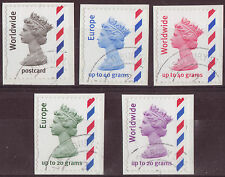 GREAT BRITAIN 2003-10 OVERSEAS BOOKLET STAMPS SET 5 FINE USED
