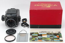 【MINT+++in BOX】Bronica S2 Late Model Camera Nikkor-P 75mm f/2.8 From Japan #659