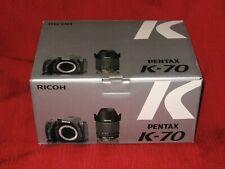 Pentax K-70 24 MB Digital SLR Camera - Black with DA 18-135 3.5-5.6 lens MINT+++