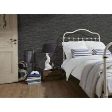 NEW A.S. CREATION WOOD N STONE BLACK SLATE FAUX EFFECT AS WALLPAPER ROLL 707123