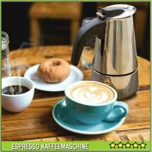 Espressomaschine Espressokocher Espressobereiter 9 Tassen Edelstahl Mokka NEU DE