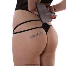 5 x Spank Me Tattoo Schriftzug in schwarz - BDSM Tattoo
