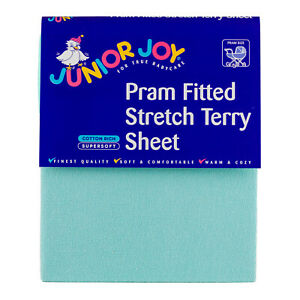 Pram Fitted Stretch Terry Sheet (6020)