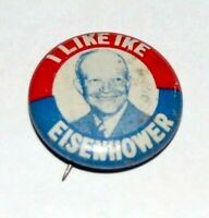 1952 Dwight Eisenhower campaign pin pinback button badge political presidential