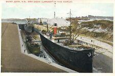 Saint John New Brunswick Canada Dry Dock Ship Postcard