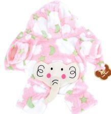 Soft Plush Pink Dog Baby Hood Coat Jacket Jumpsuit Romper Pajamas PJs Elephant M