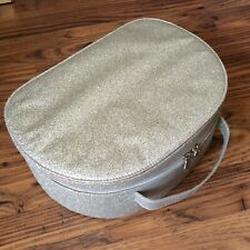 Make Up Cosmetic Bag Case Sparkly Gold Zipped NEW Unused
