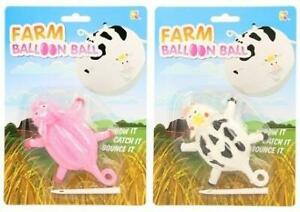 Farm Animal Balloon Ball Resealable Pig or Cow Inflatable Toy Party Gift