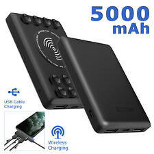 Portable Mini Charger 5000mAh Qi Wireless Charging Power Bank Battery Pack