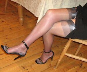 GIO RHT Stockings / Nylons - PEWTER - imperfects NYLONZ