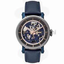 Fossil Original ME3136 Women's Boyfriend Automatic Blue Leather Watch 38mm