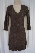 Vestidos de mujer talla M color principal marrón de poliéster