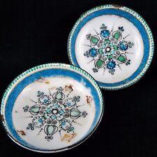 Coupelles EMAIL Ancien ARTA AUSTRIA cuivre 20th enamel/faure/flower/green/blue