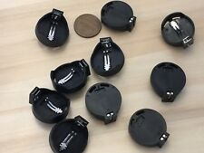10 pieces Coin CR2032 2032 Socket Button Coin Battery Holder Case On Off A11