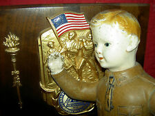 """Ideal jointed composition soldier """"Liberty Boy"""" Wwi military Us Army doll c.1917"""