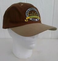 Cabela's The Worlds Foremost Outfitter Ball Cap Adjustable Back Brown Tan Cotton