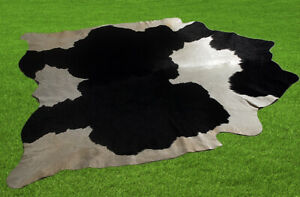 "New Cowhide Rugs Area Cow Skin Leather 23.25 sq.feet (62""x54"") Cow hide U-1614"