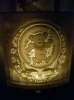 Grateful Dead Bears Jerry Garcia night light lithopane. Handmade