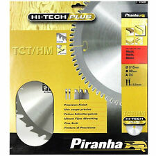 PIRANHA 315mm HI-TECH PLUS Sega Circolare TCT Lama 315 x 30 24T Hitachi makita