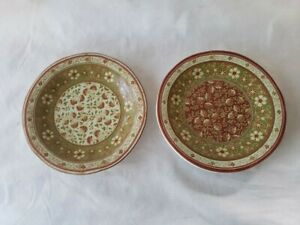 222 Fifth Kashmir Salad Plates 9 inch - Set of 2 - EUC