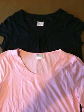 Next Maternity Tops X2 Black And Pink in Size 12 <R4544