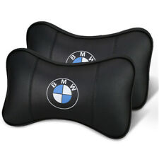 New 2Pcs Car Leather Breathable Headrest Neck Pillow For BMW Series All Model