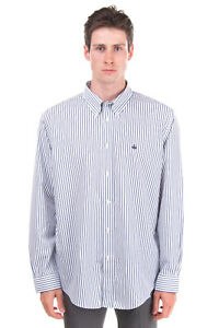RRP €115 BROOKS BROTHERS 1818 Shirt Size XL Striped Button-Up Collar Long Sleeve